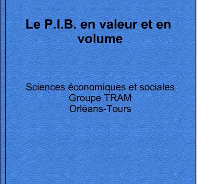 """Livre interactif Didapages """"Le PIB en valeur et en volume"""""""